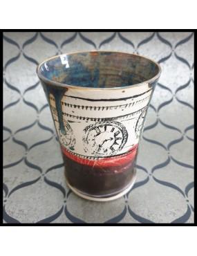 Céramique motif horloge