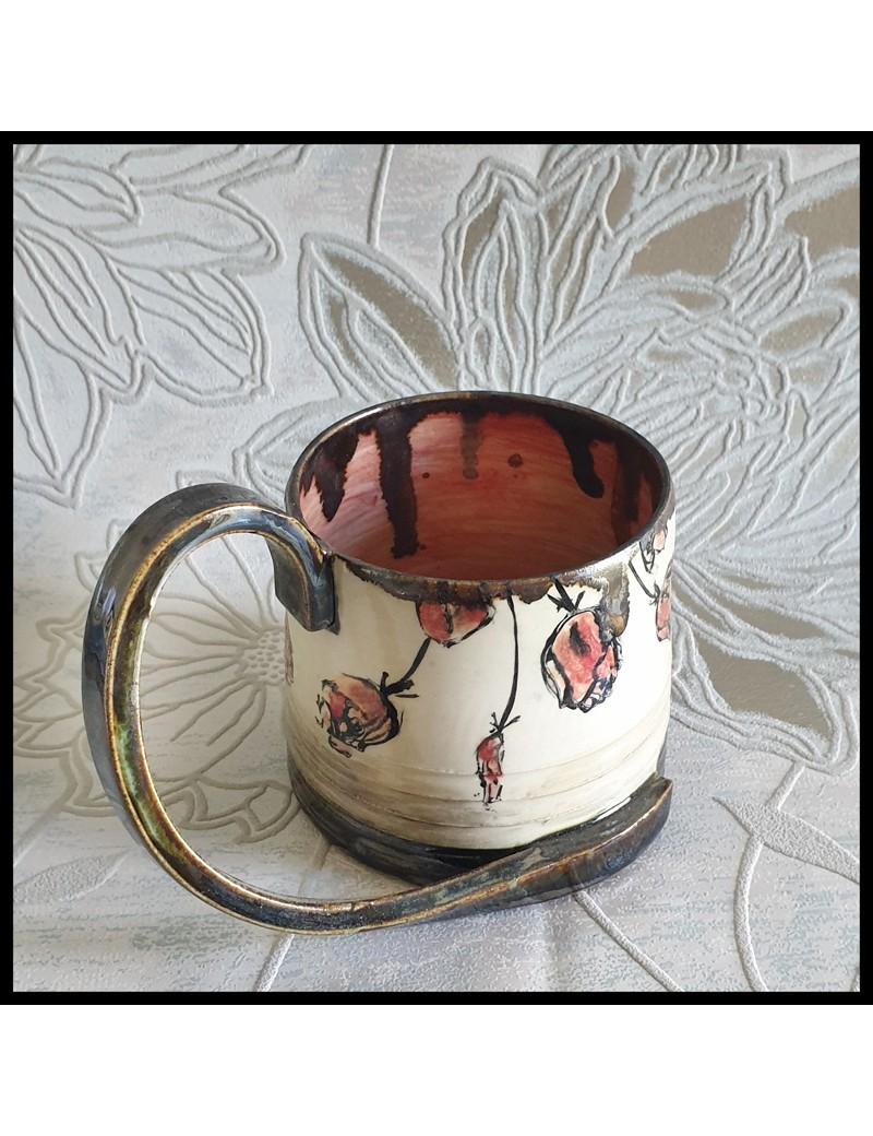 Mug motif tulipe anse originale