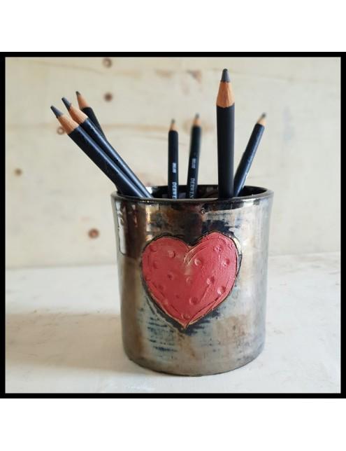 cache pot motif coeur