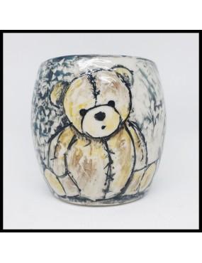 pot céramique ourson